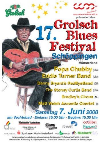 15.04.2008 - Pressemitteilung: Das 17. int. Grolsch Blues-Festival Schöppingen
