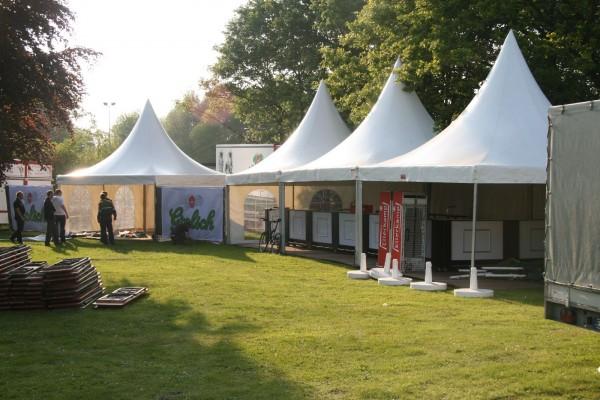 Aufbau Bluesfestival 2010